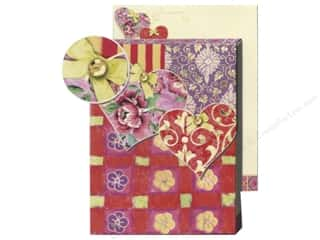 Punch Studio Pocket Note Pad Patchwork Heart Pink