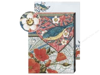 Punch Studio Pocket Note Pad Patchwork Bird Pink
