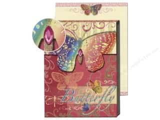 Punch Studio Pocket Note Pad Patchwork Butterfly Pink