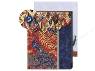 Punch Studio Note Pads: Punch Studio Pocket Note Pad Peacock Red