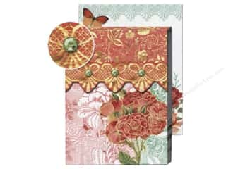 Lacis Gold: Punch Studio Pocket Note Pad Patchwork Orange/Green