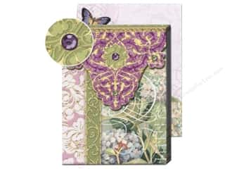 Magnets Punch Studio Decorative Magnet: Punch Studio Pocket Note Pad Patchwork Lilac/Green