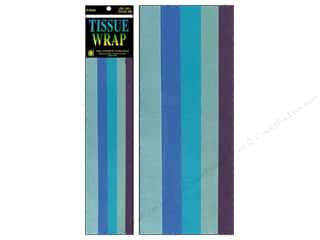 "Cindus Tissue Wrap 20""x 20"" Long Blue Mix 10pc"