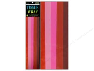 "Cindus Tissue Wrap 20""x 20"" Long Red Mix 10pc"