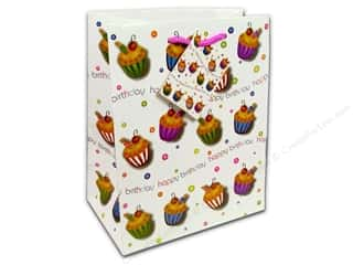 Cindus Medium Gift Bag Birthday Cupcake