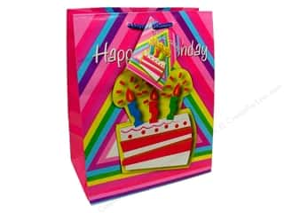 Happy Lines Gifts $7 - $9: Medium Gift Bag by Cindus 3D Birthday Cake