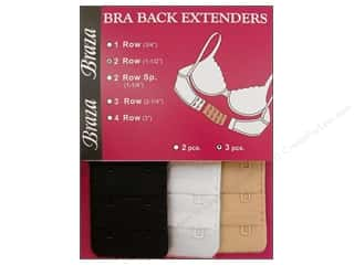 "Braza Bra Extenders Back 2 Hook 1.5"" Assorted 3pc"
