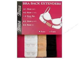 Braza Bra Extenders Back 2 Hook 1.25&quot; Assorted 3pc