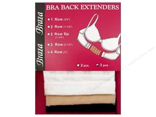 "Braza Bra Back Extender 4 Hook 3"" Assorted 3pc"
