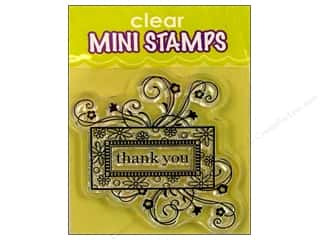 Stamps $2 - $4: Inkadinkado InkadinkaClings Clear Stamp Mini Thank You Frame