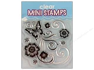 Stamps $2 - $4: Inkadinkado InkadinkaClings Clear Stamp Mini Butterfly Scroll