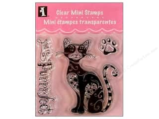 Captions $3 - $4: Inkadinkado InkadinkaClings Clear Stamp Mini Your Purfect Cat