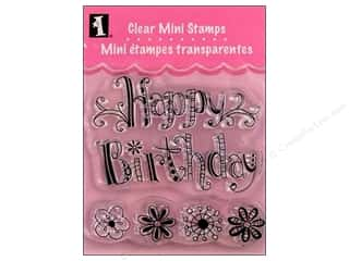 Rubber Stamping Height: Inkadinkado InkadinkaClings Clear Stamp Mini Happy Birthday