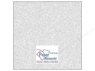 Cardstock 12 x 12 in. #5101 Glitz Silver/Fairy Dust by Paper Accents