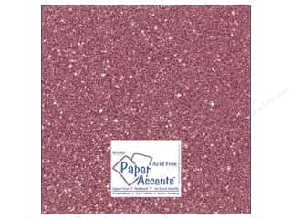 Cardstock 12 x 12 in. #5106 Glitz Silver/Rose Bud by Paper Accents
