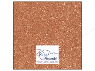 Cardstock 12 x 12 in. #5109 Glitz Silver/Tangerine by Paper Accents