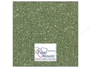 Cardstock 12 x 12 in. #5112 Glitz Silver/Bayberry by Paper Accents