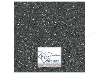 Paper Accents 12 x 12 in. Cardstock: Cardstock 12 x 12 in. #5118 Glitz Silver/Midnight by Paper Accents (25 sheets)