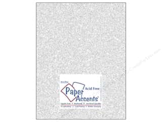 Papers Paper Accents 8 1/2 x 11 in. Cardstock: Cardstock 8 1/2 x 11 in. #5101 Glitz Silver/Fairy Dust by Paper Accents (25 sheets)