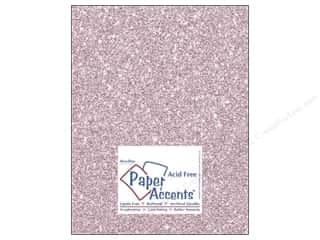 Paper Accents Cdstk 8.5x11 Glitz Silver/Petal Pink (25 sheets)