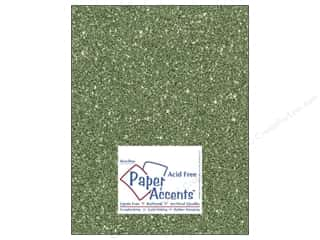 $8 - $12: Cardstock 8 1/2 x 11 in. #5112 Glitz Silver/Bayberry by Paper Accents (25 sheets)