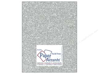 Papers Paper Accents 8 1/2 x 11 in. Cardstock: Cardstock 8 1/2 x 11 in. #5117 Glitz Silver/Platinum by Paper Accents (25 sheets)