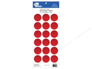 Paper Accents Envelopes: Paper Accents Envelope Seals 1 1/8 in. Red Foil 18 pc.