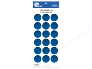 "Seals: Paper Accents Envelope Seals 1 1/8"" Blue Foil 18pc"