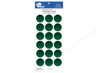 Foil Green: Paper Accents Envelope Seals 1 1/8 in. Green Foil 18 pc.