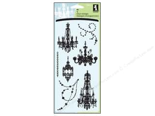 Sizzling Summer Sale Inkadinkado: Inkadinkado InkadinkaClings Clear Stamp Chandeliers
