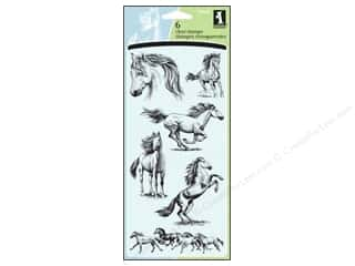 Inkadinkado InkadinkaClings Clear Stamp Horses