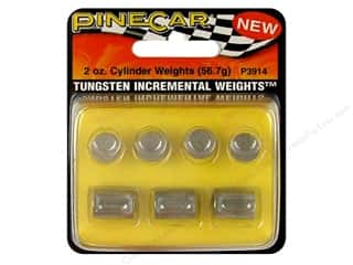 Rub-Ons Pinecar Kits & Accessories: PineCar Weights Tungsten Cylinder 2oz