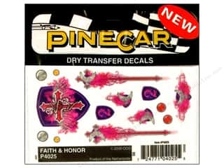 Pinecar Kits & Accessories: PineCar Decals Transfer Faith & Honor