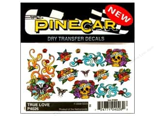 Rub-Ons Pinecar Kits & Accessories: PineCar Decals Transfer True Love