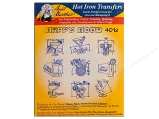 Clearance Blumenthal Favorite Findings: Aunt Martha's Hot Iron Transfer #4012 Happy Hour