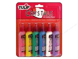 three dimensional paint: Tulip 3D Fabric Paint Set Crystals 6pc