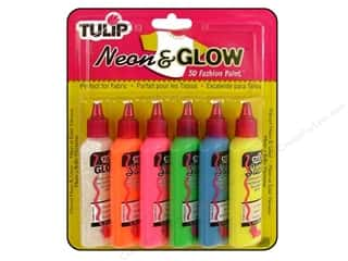 DecoArt Glow In The Dark Paint: Tulip 3D Fashion Paint Set Neon & Glow 6 pc.