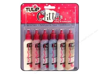 Tulip 3D Fabric Paint Set Glitter 6pc