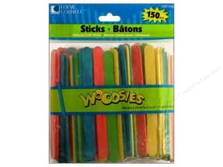 Loew Cornell Green: Woodsies Craft Stick 150 pc. Colored