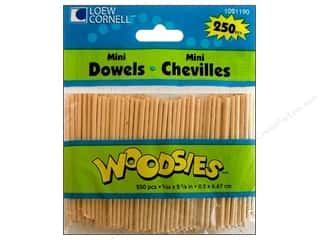 Loew Cornell Doll Making: Woodsies Mini Wood Dowels 5/64 x 2 5/8 in. 250 pc.