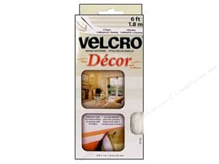 Velcro Sew On & Sticky Back 1 in. x 6 ft. White