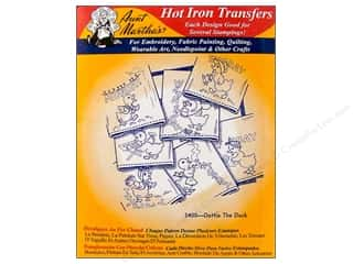 Irons: Aunt Martha's Hot Transfer Red Dottie Duck