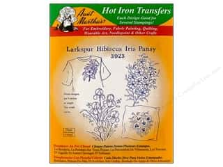 Aunt Martha's Hot Iron Transfer #3923 Larkspur Hibiscus Iris and Pansy