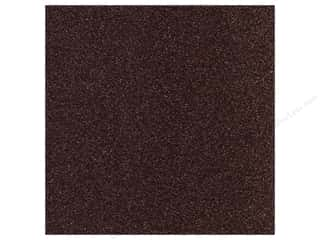Best Creation All-American Crafts: Best Creation 12 x 12 in. Cardstock Glitter Dark Chocolate (15 sheets)