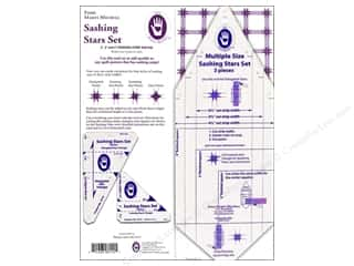 Quilting Templates / Sewing Templates: Marti Michell Template Sashing Stars Set