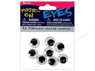Darice Eyes Paste On Moveable 14mm Black 8pc (3 packages)