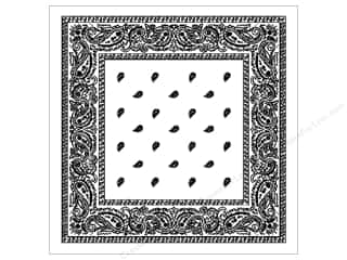 Fabric Painting & Dying Books & Patterns: Darice Bandana 22 x 22 in. White Paisley
