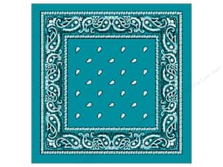 Darice Bandana 22&quot;x 22&quot; Paisley Turquoise