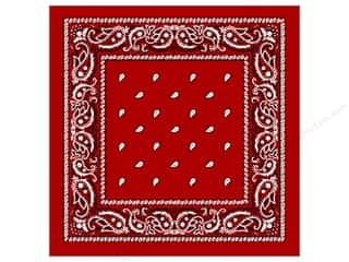 Darice Bandana 22&quot;x 22&quot; Paisley Red