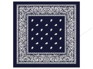 Books Blue: Darice Bandana 22 x 22 in. Navy Blue Paisley